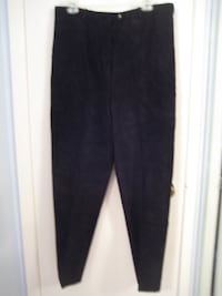 Suede Black Slacks, lined - Size 16 - New - Great for Fall/W