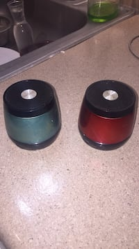 Two black and red portable speakers Tulsa, 74135