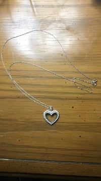Sterling silver heart necklace Pittston township, 18640