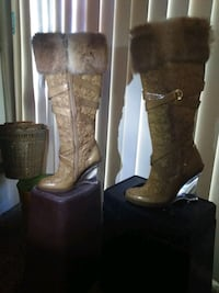BabyPhat name brand clear healed boots size 8 1/2  Las Vegas, 89121