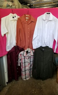 6 PIECES OF SHIRTS SIZE M &L ( ALL FOR $5 )