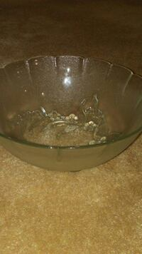 frosted glass bowl