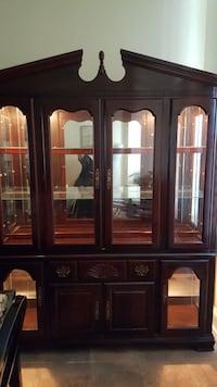brown wooden framed glass display cabinet Silver Spring, 20906