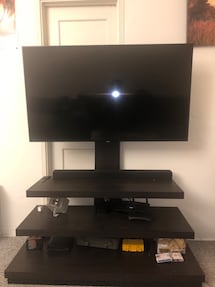 3 Tier Tv Stand with built in Tv mount and cable management