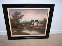 27 x 31 framed stunning OIL PAINTING  Vaughan