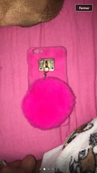 cas d'iPhone de fourrure rose Dammarie, 28360