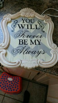 you will forever be my always wall decor with white wooden frame Saint Thomas, N5R 3L4
