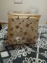 beige and brown floral tissue box cover  Waco, 76705