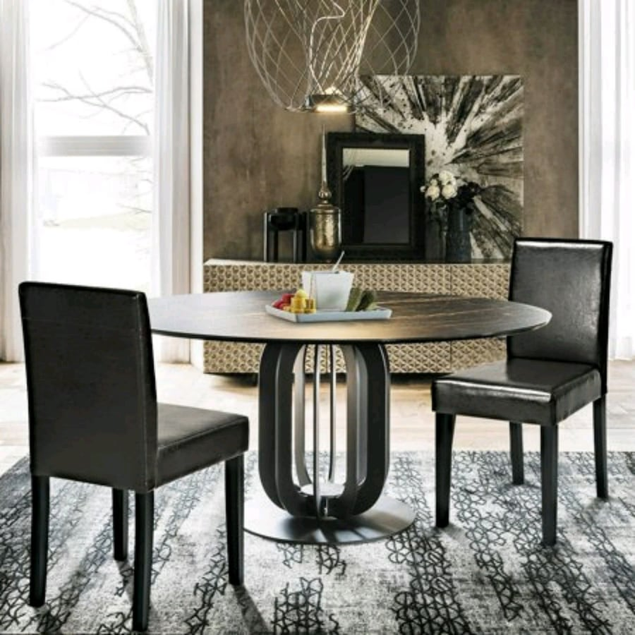 Douro PU Brown Dining Chair (Pkg. 2) (NEW)