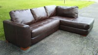 Brown Leather Sectional Sofa Englewood, 45322