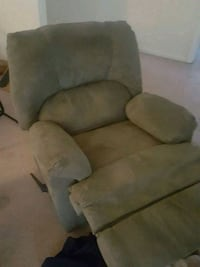 gray suede recliner sofa chair Virginia Beach, 23455