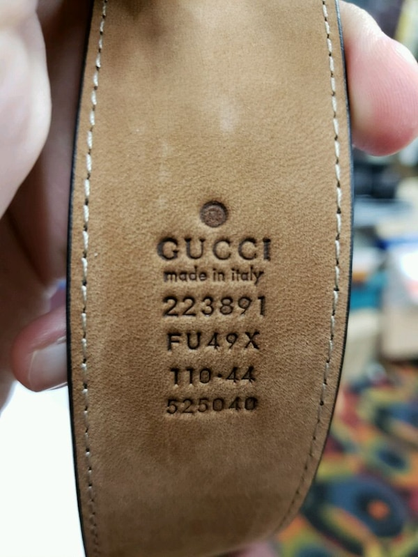 4cccea083a2 Used Gucci Men s Black GG Imprimé Shiny Belt 223891 Fu4 for sale in ...