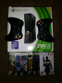 Xbox 360 + 2 controllers + 5 games Henderson