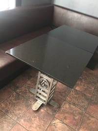 Marble tables. 6 tables. Chromed base. Some chips on edge. Cheap must go Brampton, L6X 2R6