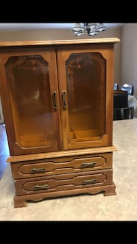 "17"" Antique Wood Jewelry Cabinet  Bakersfield"