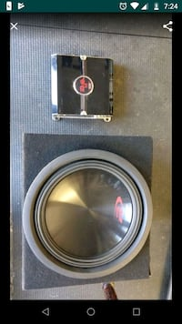 12'' Alpine R subwoofer with DS 1200w amplifier Whittier, 90603