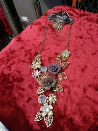 Necklace and earrings.  Fresno, 93721