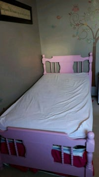 white and pink bed mattress Listowel, N4W 1J2
