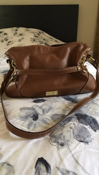 brown leather 2-way bag Toronto