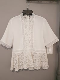 Zara Cream Lace Top  London