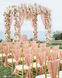 white and pink floral canopy tent Clarksburg, 20871