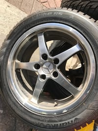"""17"""" Mercedes snow tires and rims"""