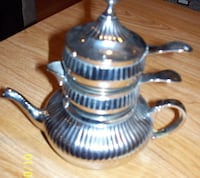 Small stackable Teapot set (it tarnishes) Brampton