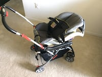 Baby Trend infant car seat + Snap-N-Go Stroller + Base - Gently used