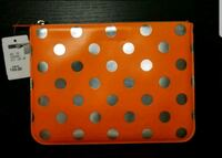 red and white polka dot leather wallet Toronto, M1C 1Z1