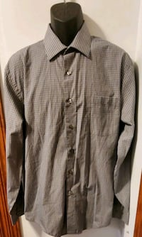 Arrow Gray And White Fitted Button-Down Long Sleeve Shirt Middletown, 21769