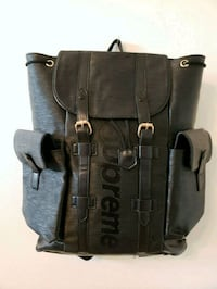 black and gray leather backpack Royal Palm Beach, 33411