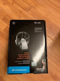 new opened box , Sennheiser RS120 On-Ear 926MHz Wireless RF Headphones with Charging Cradle Toronto, M9V 3L6