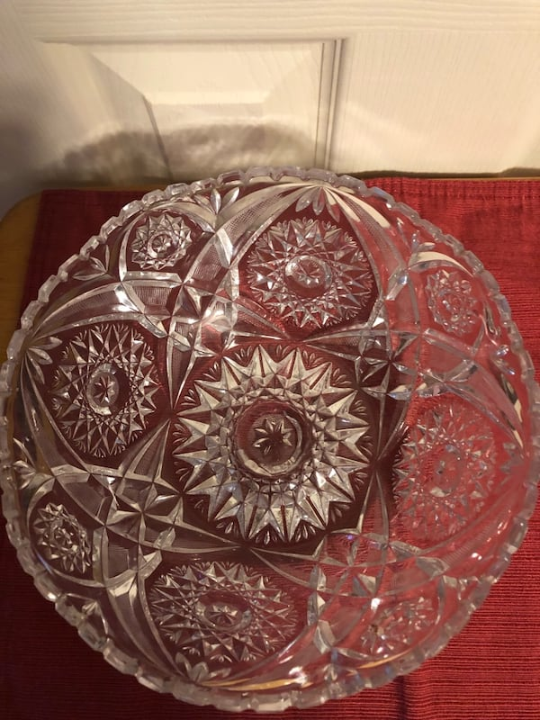 Crystal Salad Bow w/SilverFork/Spoon and Silverplate Candy Dish-$15 ea f7501ad4-bd19-4178-b30f-f4b0b24bae8a