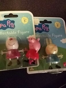 2 pepa gris collectable tall