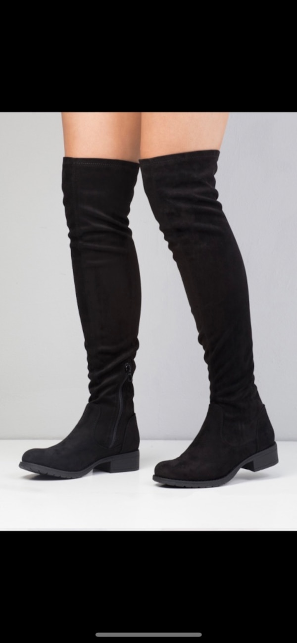 Svarte thigh high boots