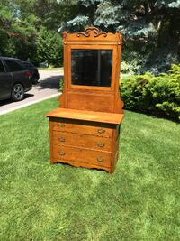 Antique Oak Dresser & Tilting Mirror TORONTO