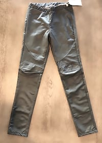 NWT Christian Audigier Gray/silver faux leather skin tight pants. Sz S Las Vegas, 89138
