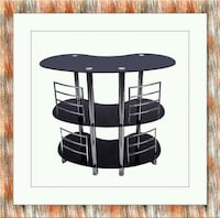 12911 bar table glass Gaithersburg