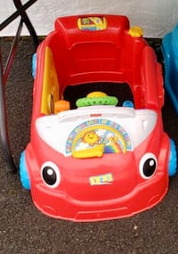Interactive toy car in red.
