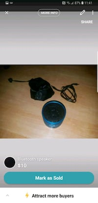 black and blue bluetooth speaker Toronto, M9B 3J1