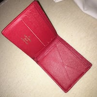 Red and white leather wallet Burnaby, V5E 1J6