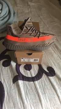 pair of gray Adidas Yeezy Boost 350 V2 Leesburg, 20176