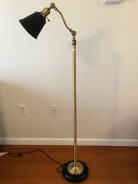 Adjustable standing lamp, black and gold Herndon, 20171