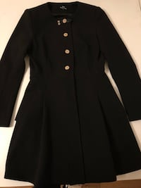 Black button-up long-sleeved coat 481 km