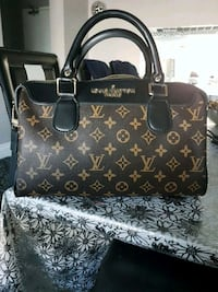 brown and black Louis Vuitton leather tote bag Toronto, M3M