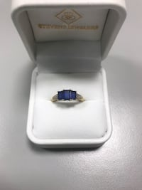 silver and blue gemstone ring Fairfax, 22030
