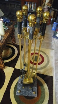 Marble and Brass fireplace set Calgary, T2B 2V4