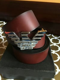 Awesome Brown Belt with Silver Buckle in Box
