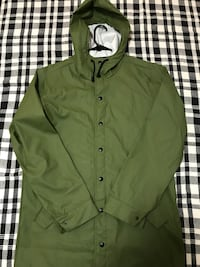 New Green  raincoat waterproof size m