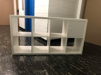 White shelving unit 6ft\4In wide  Excellent condition 46 km